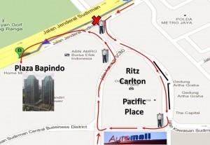 Route Nyaman Menuju Plasa Bapindo
